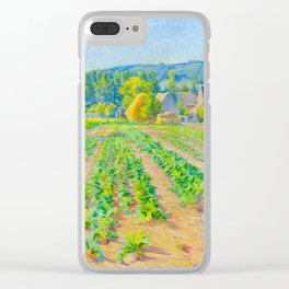 Václav Radimský (1867-1946) Cabbage Fields near Vernon Modern Impressionist Oil Painting Colorful Clear iPhone Case