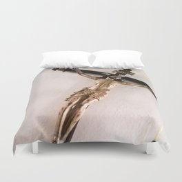 Christ crucified. Duvet Cover