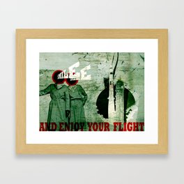 Smile and Enjoy Your Flight Framed Art Print