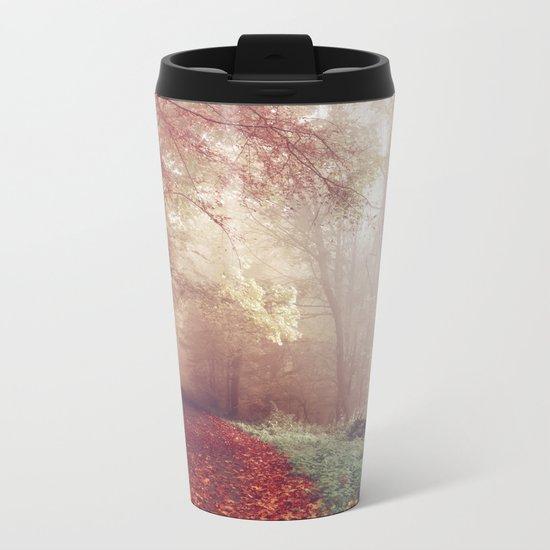 Autumn trees Metal Travel Mug