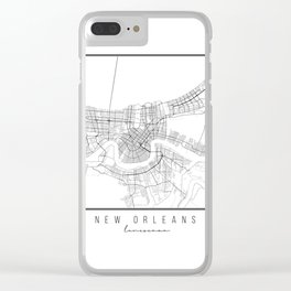 New Orleans Louisiana Street Map Clear iPhone Case
