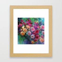 Tea Roses Framed Art Print