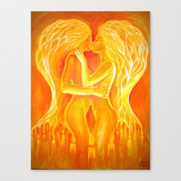 Flames of love and passion Canvas Print