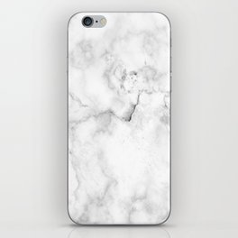 Marble pattern on white background iPhone Skin