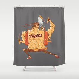 Nunchucks or Nothing! Shower Curtain