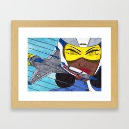 Lady Racer Framed Art Print