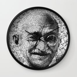Homage to Gandhi Wall Clock