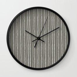 Mud Cloth by Proxy Wall Clock