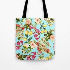 Lemon and Leaf Pattern IV Tote Bag