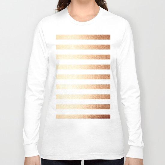 Simply Striped Deep Bronze Amber Long Sleeve T-shirt