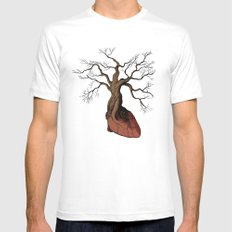 The Love Root Mens Fitted Tee MEDIUM White