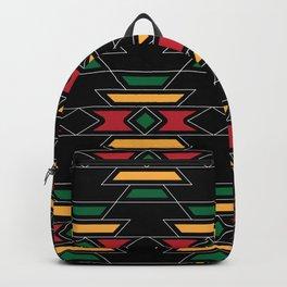 Native Rasta Pattern Backpack