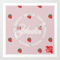Sweets - Strawberry Art Print