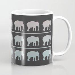 Elephants Marching Pattern Coffee Mug