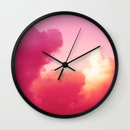 The battle of the light and shadow Wall Clock