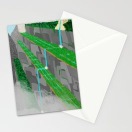 Mountain temple Stationery Cards