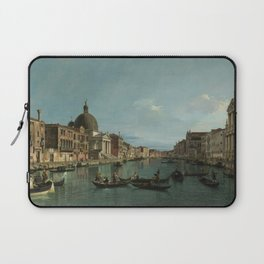 A View of the Grand Canal by Canaletto Laptop Sleeve