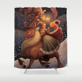 Winter Song Shower Curtain