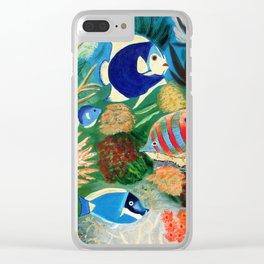Magnificent sight sea world   Vue magnifique des bas fonds Clear iPhone Case