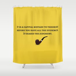 Sherlock Holmes Quote IV Shower Curtain