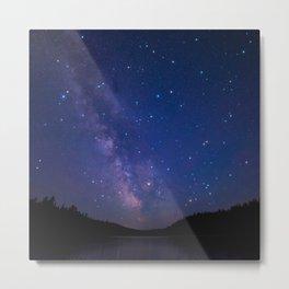 Milky Way (Starry Night) 4. Metal Print