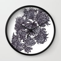 zentangle Wall Clocks featuring Zentangle; by Shivani C