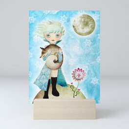 Wintry Little Prince Mini Art Print