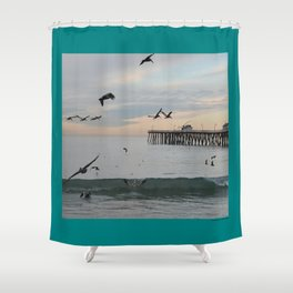 Pelican Jump Fast Shower Curtain