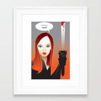 kill bill Framed Art Prints featuring Kill Bill by Martynas Juchnevicius