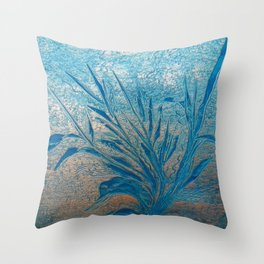 Silverblue (self-painted) by Nico Bielow Throw Pillow
