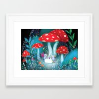 fireflies Framed Art Prints featuring Fireflies by Lisa Evans