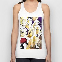 faces Tank Tops featuring Faces by Helen Syron