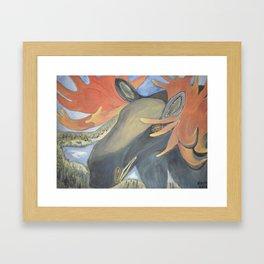 MOOSE SPIRIT Framed Art Print