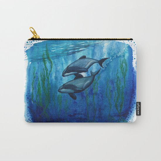 """Maui's Magic"" by Amber Marine ~ (Maui's Dolphins) Watercolor Painting, (c) 2016 Carry-All Pouch"