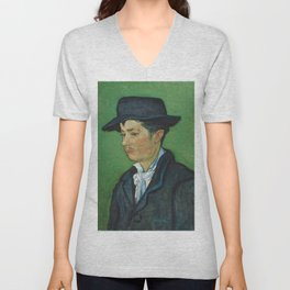 Portrait of Armand Roulin by Vincent van Gogh Unisex V-Neck