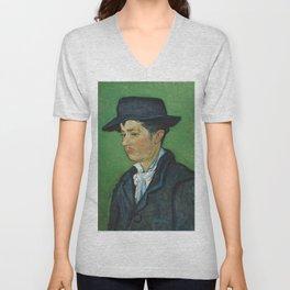 Portrait of Armand Roulin by Vincent van Gogh Unisex V-Neck