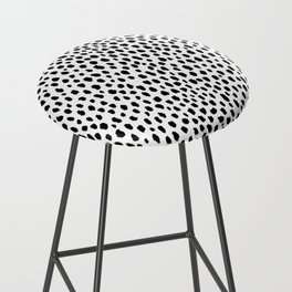 Dalmatian Spots (black/white) Bar Stool