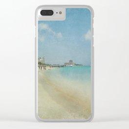 Vintage Aruba Clear iPhone Case