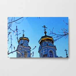 Cupolas, Church of the Ascension, Russia Metal Print