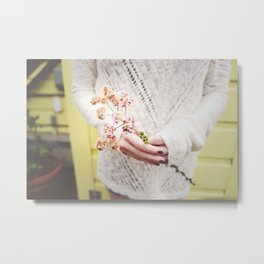 Beach flowers Metal Print