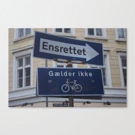 Copenhagen street signs.jpg Canvas Print