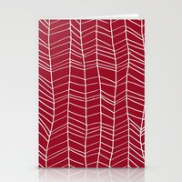 herringbone Stationery Cards featuring Herringbone  by Rachelmel1