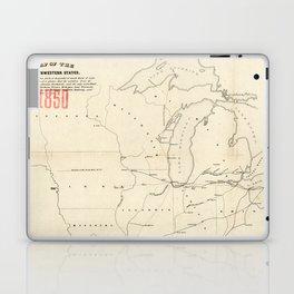 Railroad & The Northwestern States in 1850 Laptop & iPad Skin