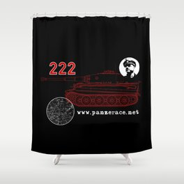 Michael Wittmann Panzer Ace 222 Villers Bocage Black Shower Curtain