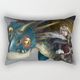 astrid & stormfly HOW TO TRAIN YOUR DRAGON 2 Rectangular Pillow