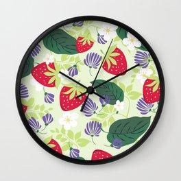 Strawberrie patten Wall Clock