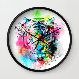 colorful tiger Wall Clock
