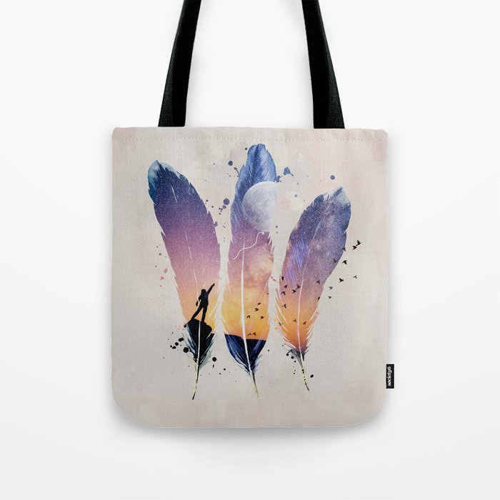 FEATHERS / MOON BALLOON Tote Bag