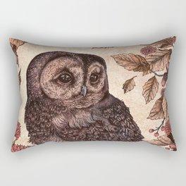 Tawny Owl Pink Rectangular Pillow