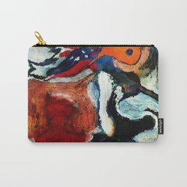 Orange Abstract Art / Surrealist Painting Carry-All Pouch